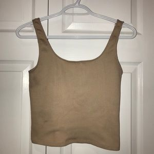 Dynamite Nude Ribbed Tank Top